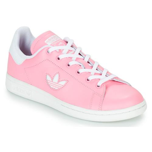 Sapatos Rapariga Sapatilhas adidas Originals STAN SMITH J Rosa