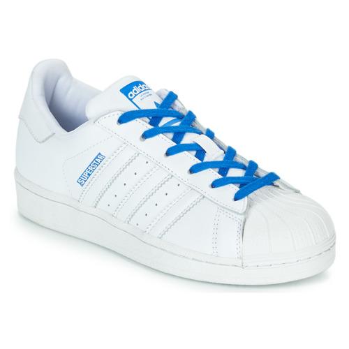 Sapatos Rapariga Sapatilhas adidas Originals SUPERSTAR J Branco / Azul