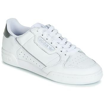 Sapatos Mulher Sapatilhas adidas Originals CONTINENTAL 80s Branco / Prata