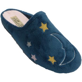 Sapatos Chinelos Calzamur Sapato de inverno mulher aberto atrás de azul