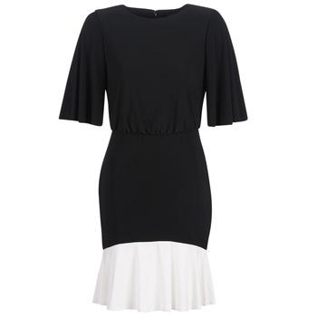 Textil Mulher Vestidos curtos Lauren Ralph Lauren ELBOW SLEEVE DAY DRESS Preto / Branco