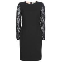 Textil Mulher Vestidos curtos Lauren Ralph Lauren LACE PANEL JERSEY DRESS Preto