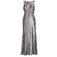 Textil Mulher Vestidos compridos Lauren Ralph Lauren SLEEVELESS EVENING DRESS GUNMETAL Cinza / Prata
