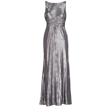 Textil Mulher Vestidos compridos Lauren Ralph Lauren SLEEVELESS EVENING DRESS GUNMETAL Cinza / Prata