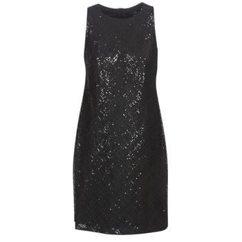 Textil Mulher Vestidos curtos Lauren Ralph Lauren SEQUINED SLEEVELESS DRESS Preto