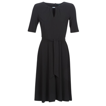 Textil Mulher Vestidos curtos Lauren Ralph Lauren 3/4 SLEEVE  JERSEY DAY DRESS Preto