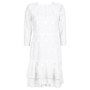 Textil Mulher Vestidos curtos Lauren Ralph Lauren LONG SLEEVE-LACE DAY DRESS Branco / Preto