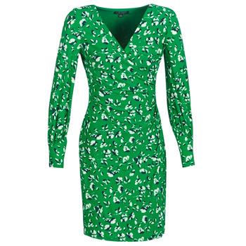 Textil Mulher Vestidos curtos Lauren Ralph Lauren FLORAL PRINT-LONG SLEEVE-JERSEY DAY DRESS Verde