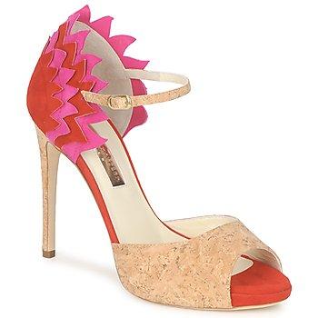 Sapatos Mulher Sandálias Rupert Sanderson FLAMANTE Vermelho / Preto