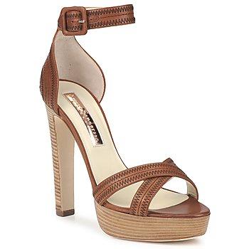 Sapatos Mulher Sandálias Rupert Sanderson KOOMELA Castanho