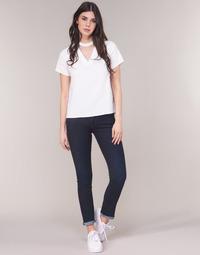Textil Mulher Calças Jeans G-Star Raw MIDGE SADDLE MID STRAIGHT Azul / Escuro