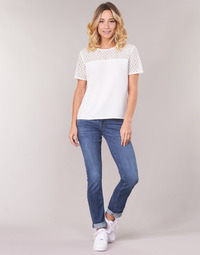 Textil Mulher Calças Jeans G-Star Raw MIDGE SADDLE MID STRAIGHT Azul / Índigo