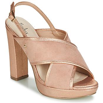 Sapatos Mulher Sandálias Menbur VILLALBA Rosa / Ouro