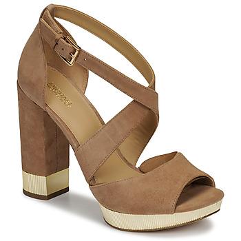 Sapatos Mulher Sandálias MICHAEL Michael Kors VALERIE PLATFORM Camel