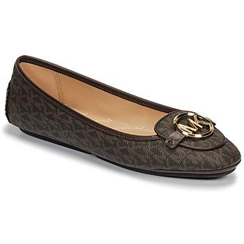 Sapatos Mulher Sabrinas MICHAEL Michael Kors LILLIE MOC Castanho
