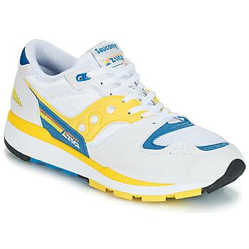 Sapatos Homem Sapatilhas Saucony Azura Branco / Amarelo / Azul