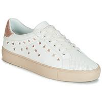 Sapatos Mulher Sapatilhas Esprit Colette Star LU Branco / Rosa / Ouro