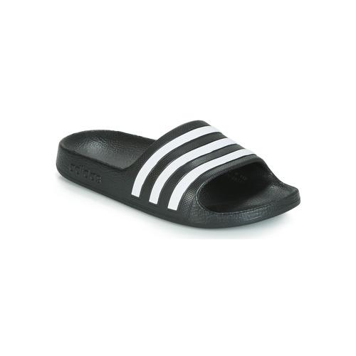 Sapatos Criança chinelos adidas Performance ADILETTE AQUA K Preto / Branco