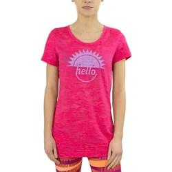 Textil Mulher T-Shirt mangas curtas Reebok Sport RH Burnout Tshirt Cor-de-rosa
