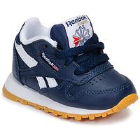 Sapatos Rapaz Sapatilhas Reebok Classic CLASSIC LEATHER Azul / Branco