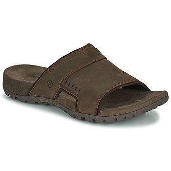 Sapatos Homem Chinelos Merrell SANDSPUR LEE SLIDE Castanho