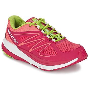 Sapatos Mulher Sapatilhas de corrida Salomon SENSE PULSE WOMAN Rosa / Laranja / Verde