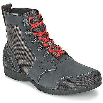 Sapatos Homem Botas baixas Sorel ANKENY MID HIKER RIPSTOP Preto / Cinza