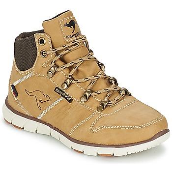 Sapatos Rapaz Botas baixas Kangaroos BLUERUN 2098 Bege