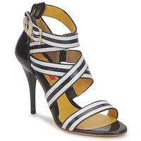 Sapatos Mulher Sandálias Charles Jourdan BARBARA Preto / Branco