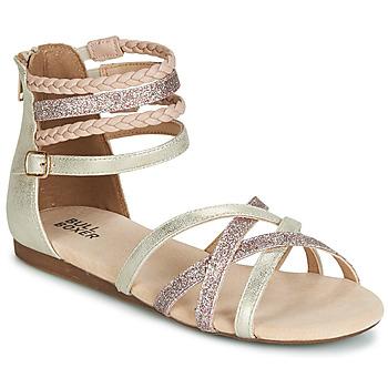 Sapatos Rapariga Sandálias Bullboxer AED009 Ouro / Rosa