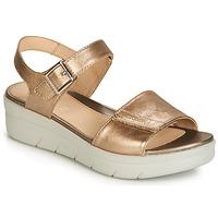 Sapatos Mulher Sandálias Stonefly AQUA III 2 LAMINATED Ouro