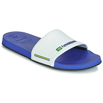 Sapatos Homem chinelos Havaianas SLIDE BRASIL Marinho / Branco