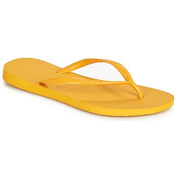 Sapatos Mulher Chinelos Havaianas SLIM Amarelo