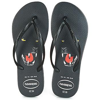 Sapatos Mulher Chinelos Havaianas SLIM ANIMAL PRINT Preto