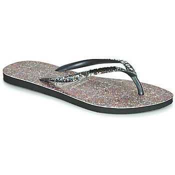 Sapatos Mulher Chinelos Havaianas SLIM CARNAVAL Preto