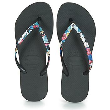 Sapatos Mulher Chinelos Havaianas SLIM STRAPPED Preto