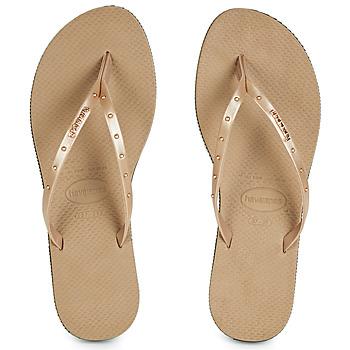 Sapatos Mulher Chinelos Havaianas YOU MAXI Rosa / Ouro