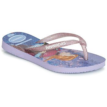 Sapatos Rapariga Chinelos Havaianas KIDS SLIM FROZEN Violeta