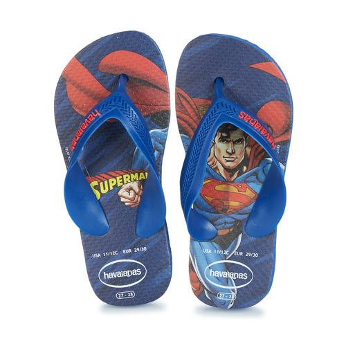 Sapatos Rapaz Chinelos Havaianas KIDS MAX HEROIS Azul