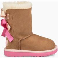 Sapatos Criança Botas de neve UGG Botas BAILEY BOW KIDS Castanho