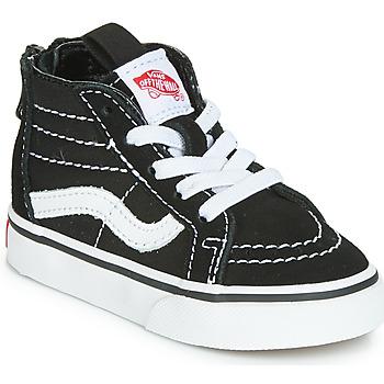 Sapatos Criança Sapatilhas de cano-alto Vans SK8-HI ZIP Preto / Branco