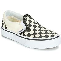Sapatos Criança Slip on Vans CLASSIC SLIP-ON Preto / Branco