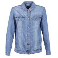 Textil Mulher casacos de ganga Noisy May NMOLE Azul