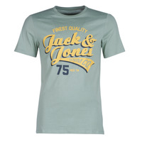 Textil Homem T-Shirt mangas curtas Jack & Jones JJELOGO Verde