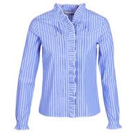 Textil Mulher camisas Maison Scotch LONG SLEEVES SHIRT Azul / Claro