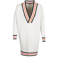 Textil Mulher camisolas Maison Scotch WHITE LONG SLEEVES Branco / Creme