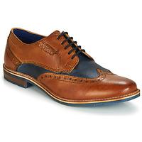 Sapatos Homem Sapatos Bugatti TROISCINQ Conhaque / Azul
