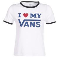Textil Mulher T-Shirt mangas curtas Vans VANS LOVE RINGER Branco