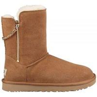 Sapatos Mulher Botas de neve UGG CLASSIC SHORT SPARKLE ZIP Castanho