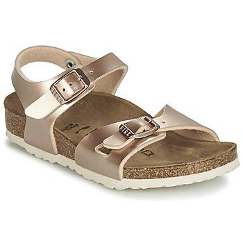 Sapatos Rapariga Sandálias Birkenstock RIO Ouro